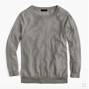 J. Crew Merino Wool Tippy Sweater Heather Gray